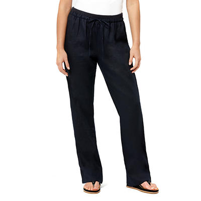 Ellen Tracy Drawstring Linen Pants (Assorted Colors)