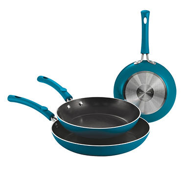 Simple Cooking 3 pk. Fry Pans - Various Colors