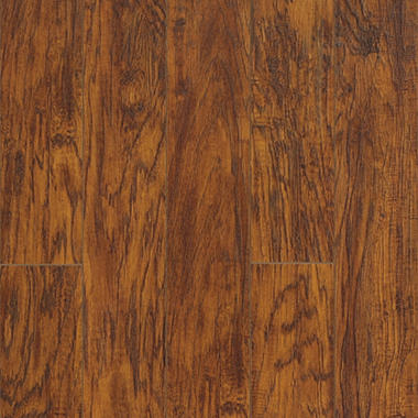 Sample - Traditional Living� Premium Laminate Flooring - Handscraped Oak