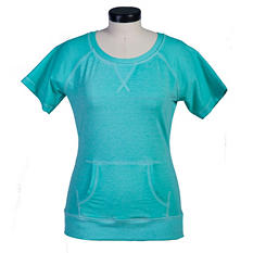 Green Tea Short Sleeve Mineral Wash Pullover (Assorted Colors)