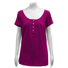 Ladies Short-Sleeve Peasant Top