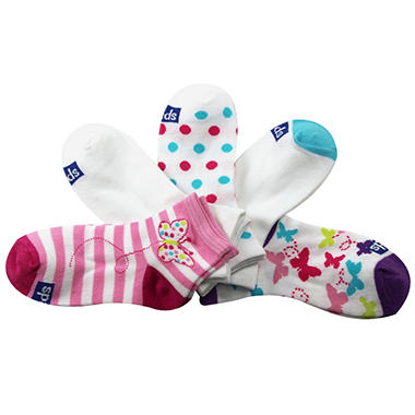 Keds 5 Pair + 1 Bonus Pack Socks - Dotted Butterfly