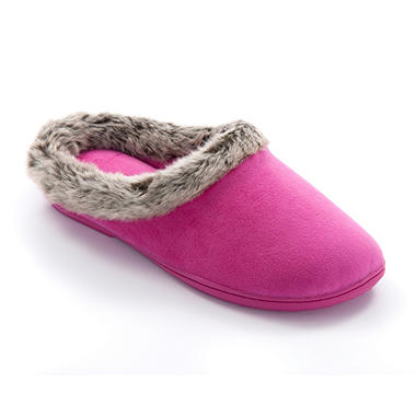 Dearfoam's Woman's Velour Clog Slipper - Various Colors