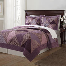 Laura Hart Luxury Jacquard 3-Piece Quilt Set - Various Colors