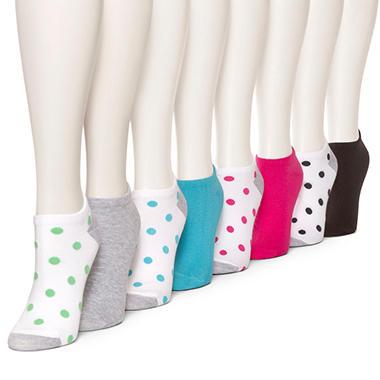 Burlington Women's 8 Pair No Show Liner Socks (Assorted Colors)