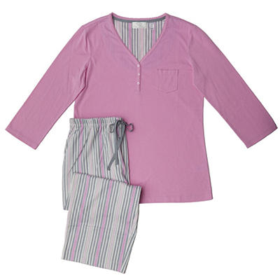 O. Oscar de la Renta Knit Capri PJ Set (Assorted Colors)