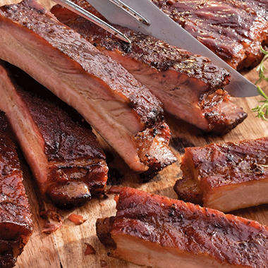 Jack Stack Pork Spare Ribs - 5 Slabs