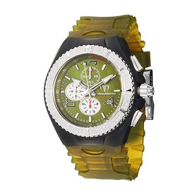 TechnoMarine Men's Cruise Original Stainless Steel Case and Silicon Interchangeable Straps Diamond Chronograph, Tachymeter Quartz Watch