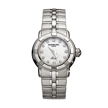 Raymond Weil Women's Parsifal Stainless Steel Case and Bracelet Diamond Quartz Watch