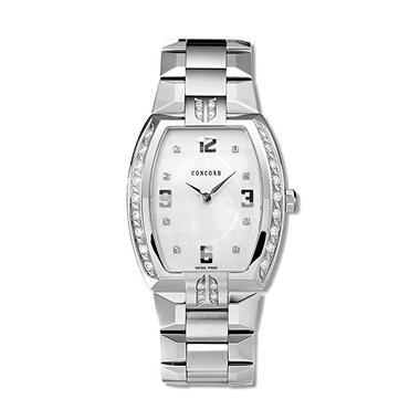 Concord Men's La Scala Stainless Steel Case and Bracelet Diamond Quartz Watch