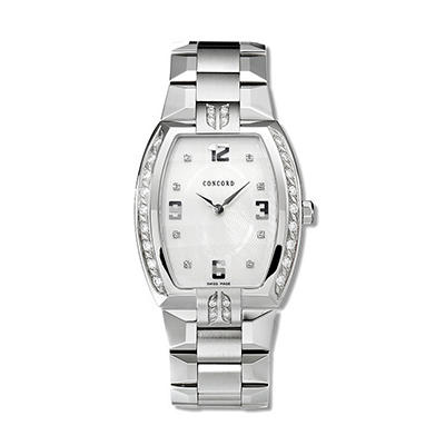 Concord Men's La Scala Stainless Steel Case and Bracelet Diamond Quartz Watch