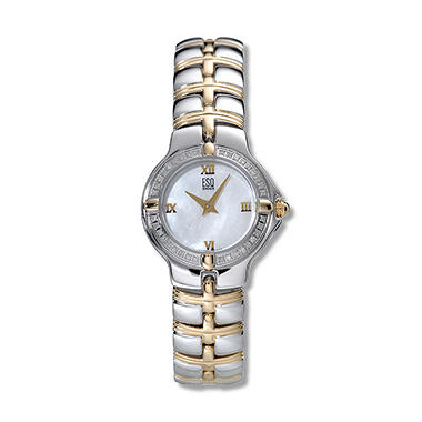 ESQ by Movado Women's Muse Stainless Steel and Yellow Gold Plated Case and Bracelet Diamond Quartz Watch
