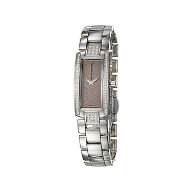 Raymond Weil Women's Shine Stainless Steel Case and Stainless Steel/ Brown Denim Interchangeable Straps Diamond Quartz Watch
