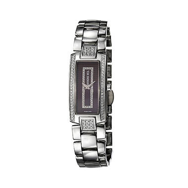 Raymond Weil Women's Shine Stainless Steel Case and Stainless Steel/ Brown Satin Interchangeable Straps Diamond Quartz Watch