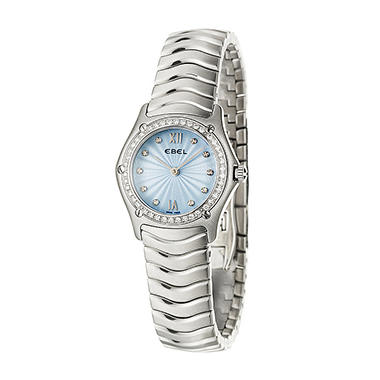 Ebel Women's Classic Wave Stainless Steel Case and Bracelet Diamond Quartz Watch