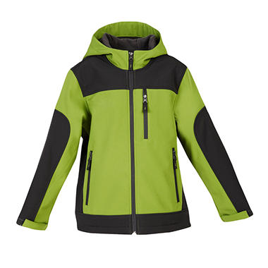 Boys Active Soft Shell Jacket - Green