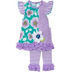 Emily Rose Purple Flower 2-Piece Set