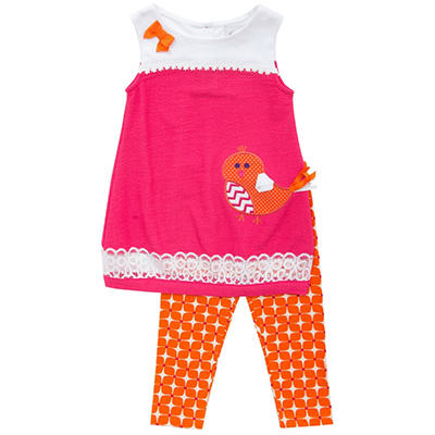 Emily Rose Pink Bird 2-Piece Set