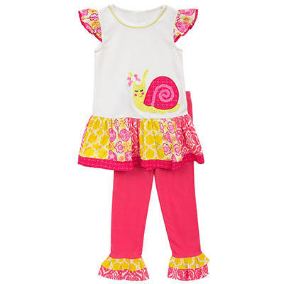 Emily Rose Pink Snail 2-Piece Set