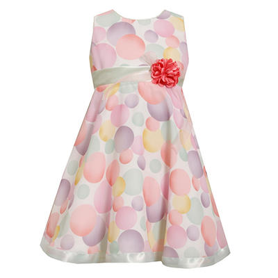 Bubble Print Chiffon Dress
