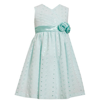 Mint Eyelet Embroidered Dress