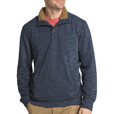 G.H. Bass & CO. Rock River Long Sleeve Button Mock Fleece Pullover