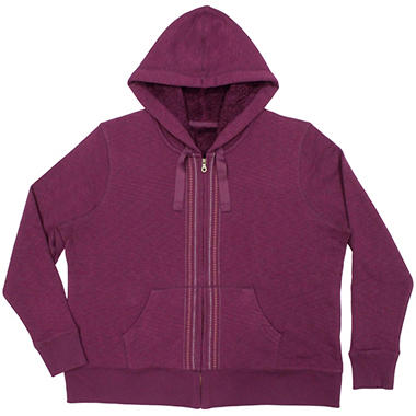 Ladies Sherpa Hoodie - Various Colors