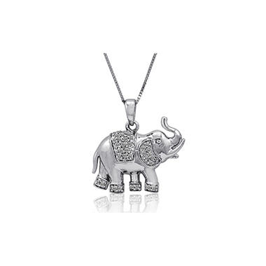0.15 ct. t.w. Diamond Elephant Pendant (H-I, I1)