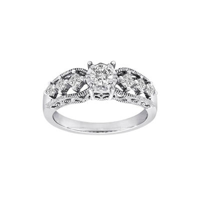 0.50 ct. t.w. Lucky 7 Diamond Ring in 14k White Gold (H-I, I1)