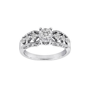 0.50 ct. t.w. Lucky 7 Diamond Ring in 14k White Gold (H-I, I1)