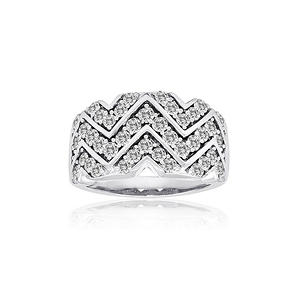 1.33 ct. t.w. Winning Wave Diamond Ring in 14k White Gold (H-I, I1)