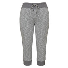 Green Tea Heather Slub Jogger Capri (Assorted Colors)