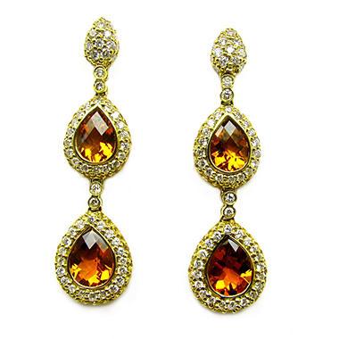 Sonia B. Diamond, Citrine & Yellow Sapphire Drop Earrings