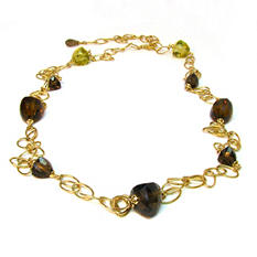 "Sonia B. Multi-Quartz & 14K Yellow Gold 43"" Link Necklace"