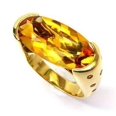 Sonia B. Oval Cut Citrine & Yellow Sapphire Ring