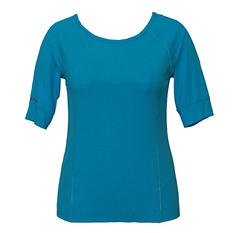 Tangerine Elbow Sleeve Active Tee (Assorted Colors)