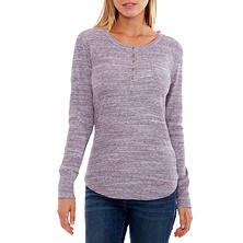 Women's Space-Dye Thermal Henley