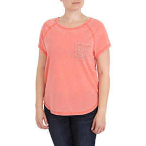 Ladies Pocket Burnout Tee (Assorted Colors)