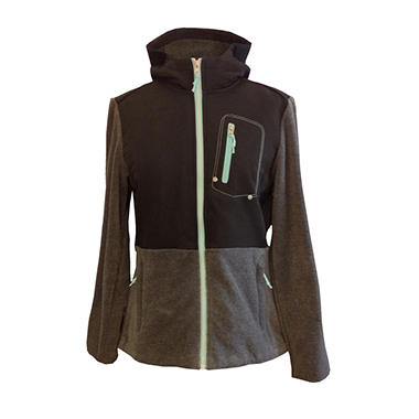Ladies Fleece Hooded Jacket - Various Colors