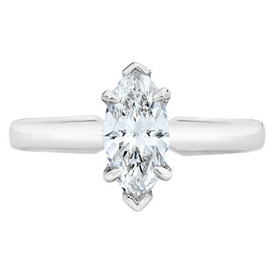 1.20 ct. Marquise Cut Diamond Platinum Solitaire Ring (D, IF)