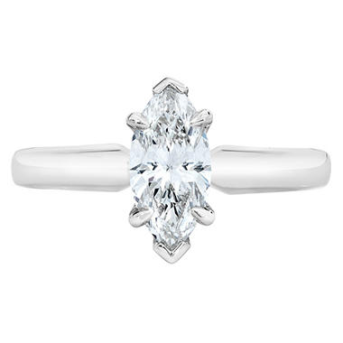 1.00 ct. Marquise Cut Diamond 14k White Gold Solitaire Ring (I, VVS2)