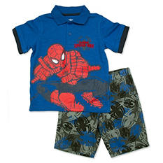 Marvel Boy's Spiderman 2-Piece Short Set