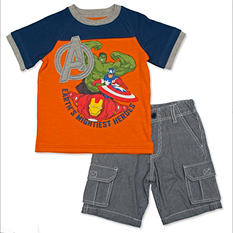 Marvel Boy's Avengers 2-Piece Short Set