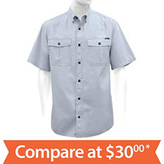 Men's Ripstop Utility Short Sleeve Shirt (Assorted Colors)