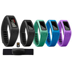 Garmin Vivofit Fitness Bracelet, 2 Bands, Heart Rate Monitor and USB ANT Stick w/ Vivofit Wrist Band Accessory Bundle