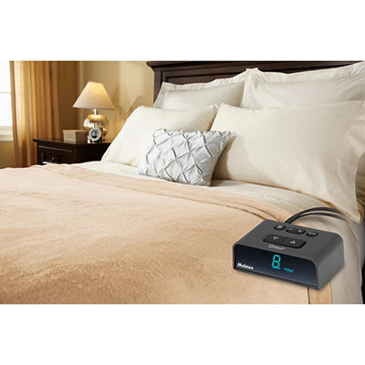 Holmes Velvet Plush Heated Blanket (Various Sizes and Colors)