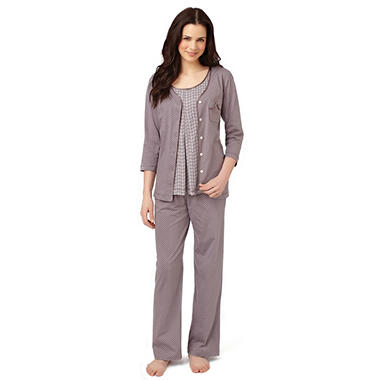 Nicole Miller 3PC PJ Set - Various Colors