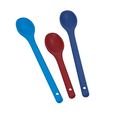 Artisan Metal Works Color Coded Silicone Spoons - 3 pk.