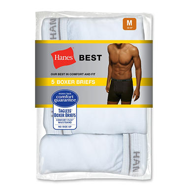 Hanes Best Boxer Briefs - 5 pk. - Various Colors