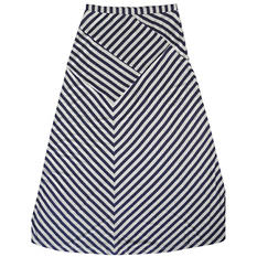 Ladies Stripe Maxi Skirt (Assorted Colors)